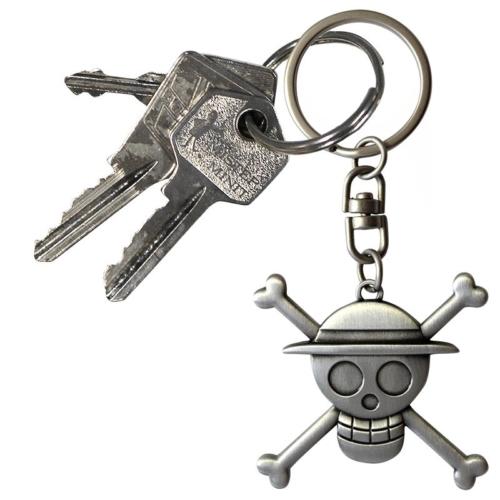 One Piece 3D Skull Luffy fém kulcstartó