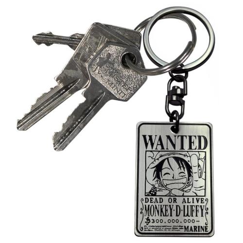 One Piece Wanted Luffy fém kulcstartó