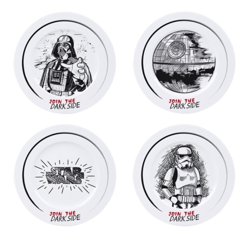 Star Wars Csillagok Háborúja Join the dark side 4 db-os porcelán tányér szett