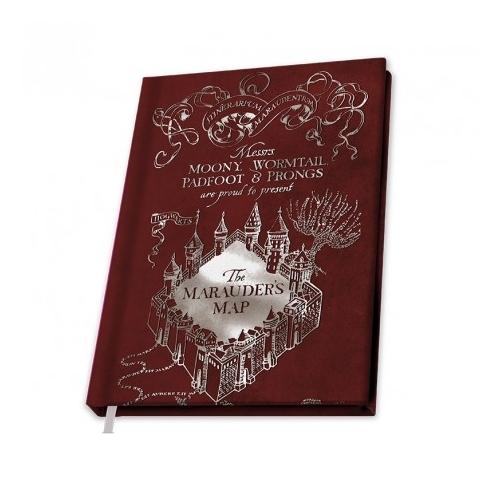 Harry Potter - Marauder's Map - Tekergők Térképe notesz jegyzetfüzet