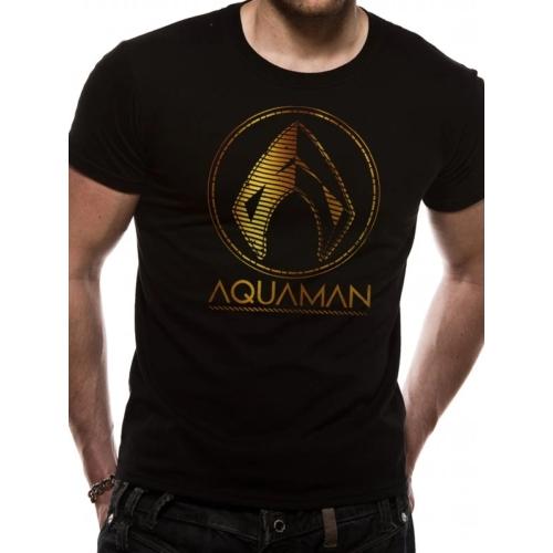 DC Comics - Aquaman gold logo póló