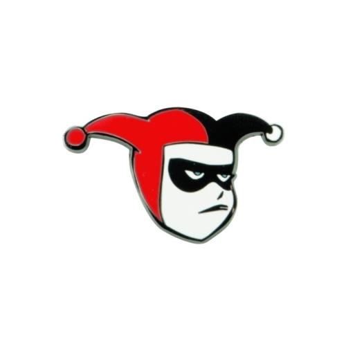 DC Comics klasszik képregényes Harley Quinn fém kitűző