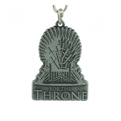 GAME OF THRONES  - Trónok Harca - Iron Throne fém kulcstartó