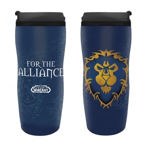 WOW World of Warcraft Alliance hővédő utazó bögre 355 ml