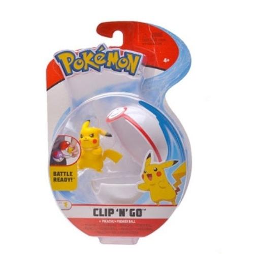 POKEMON POKEBALL clip n' go és 1db Pikachu Pokémon figura 5 cm