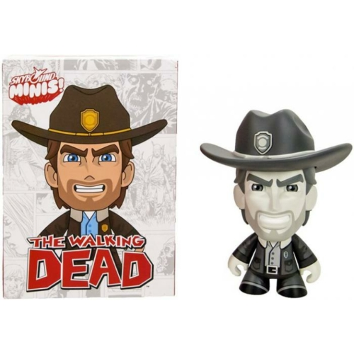 The Walking Dead - Rick Grimes Skybound Minis figura (fekete-fehér)