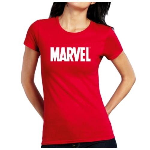 Marvel Comics logo női póló M