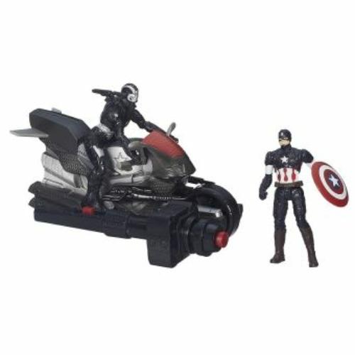 Marvel Avengers Captain America War Machine Bosszúállók Amerika kapitány dupla figura szett 9 cm