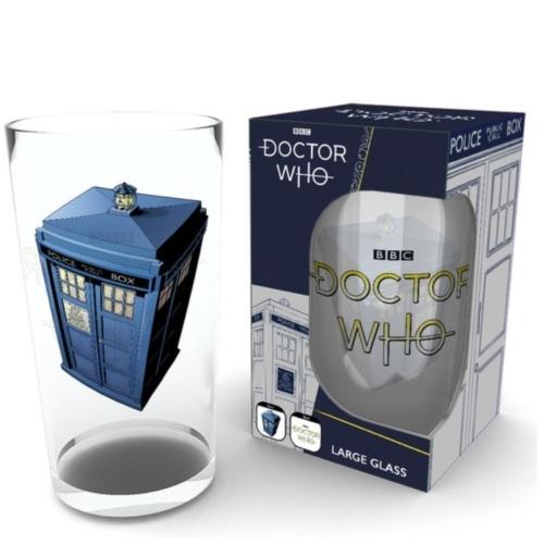 Doctor Who Ki vagy Doki Tardis premium üvegpohár 500 ml