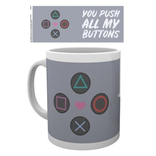 Playstation Push My Buttons bögre