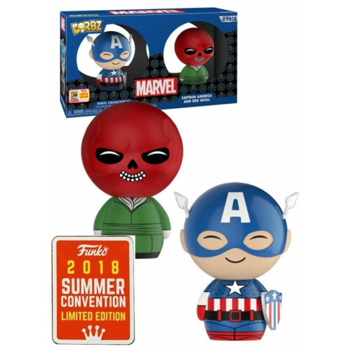 Funko Dorbz Captain America and Red Skull - Amerika kapitány és Vörös Koponya figura