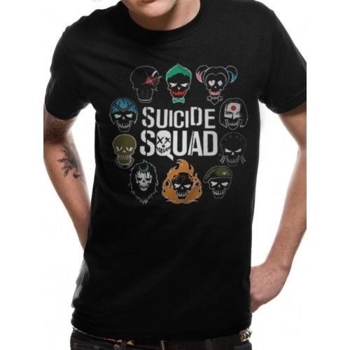Suicide Squad - Öngyilkos Osztag - Logo and Icons póló
