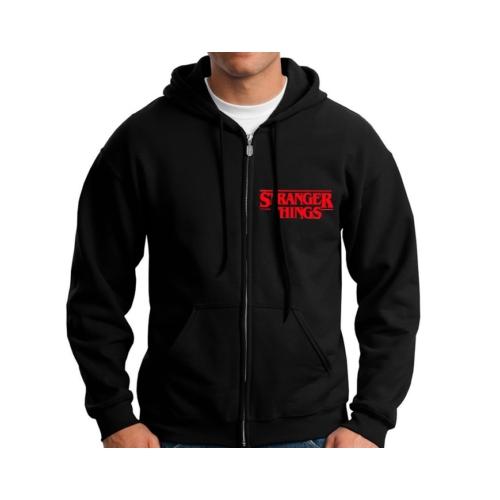 Stranger Things logo zip hoodie - kapucnis cipzáras pulóver