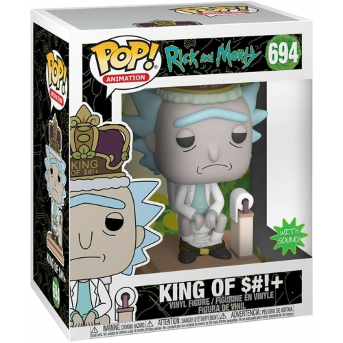 Funko Deluxe Rick and Morty - King of $#!+ POP Vinyl figura