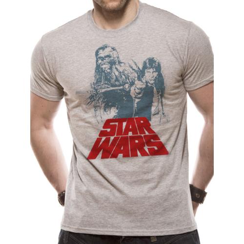 Star Wars - Csillagok Háborúja - Retro Solo & Chewie duo póló