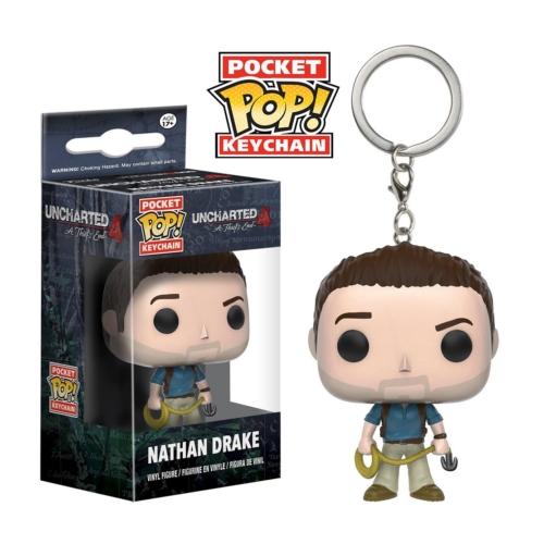 Pocket POP Uncharted Nathan Drake figura kulcstartó 4 cm