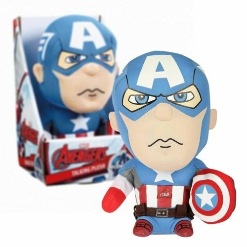 Marvel Avengers Captain America Bosszúállók Amerika Kapitány beszélő plüssfigura 25 cm