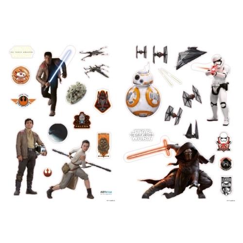 Star Wars Force Awakens Csillagok háborúja Ébredő Erő fali matrica csomag 100 x70 cm