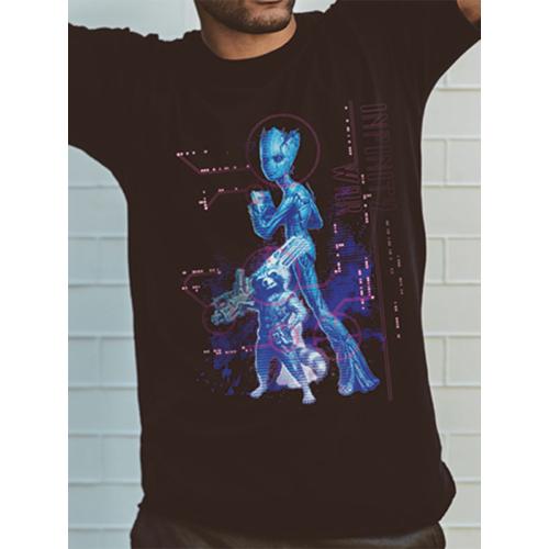 The Avengers Infinity War Neon Groot - Bosszúállók Végtelen háború póló