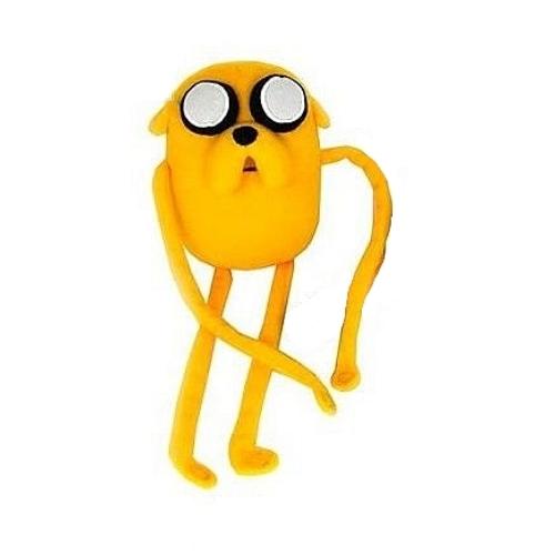 Adventure Time Kalandra Fel Jake plüssfigura