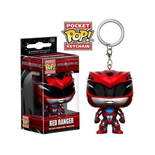 POP! Funko Power Rangers mini pop figura kulcstartó Red Ranger 4 cm