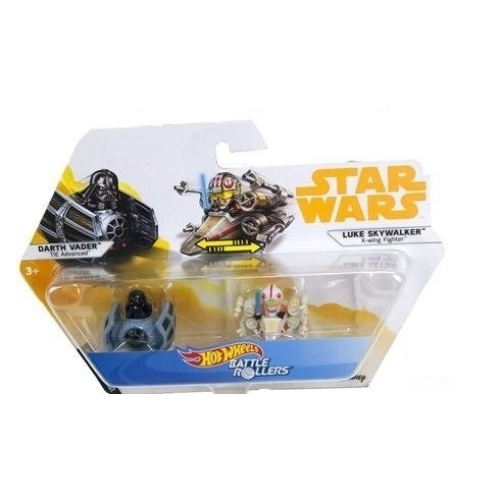 Hot Wheels Star Wars - Csillagok háborúja Battle Rollers mini járművek Darth Vader vs Luke Skywalker