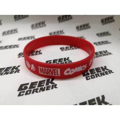 MARVEL COMICS logo piros szilikon karkötő