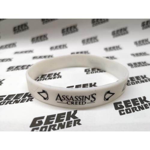 ASSASSINS CREED  By the Creed fehér szilikon karkötő