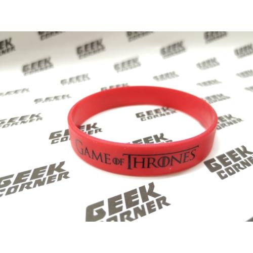 Game of Thrones piros szilikon karkötő