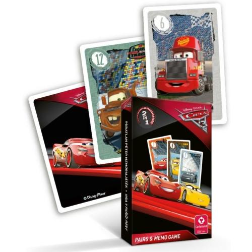 Cars 3 - Verdák 3 - pár és memória kártyajáték