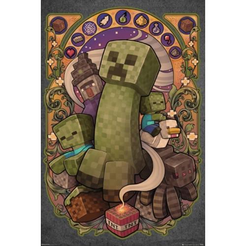 Minecraft - Creeper poszter (FP4456)