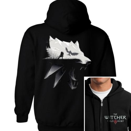 Witcher Wild Hunt kapucnis cipzáras pulcsi