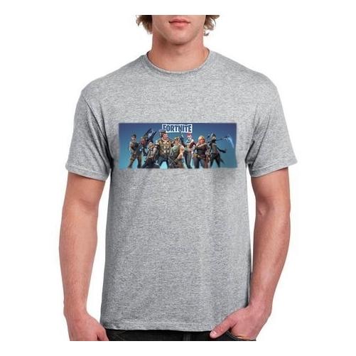 FORTNITE Characters szürke póló