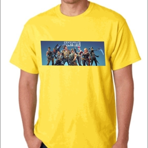 Fortnite Characters sárga póló