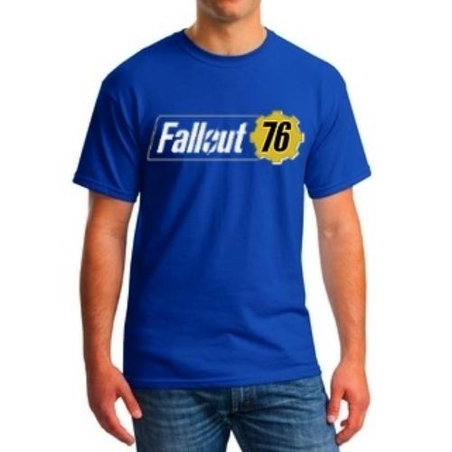Fallout 76 logo classic blue póló
