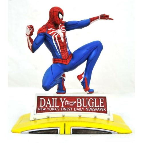 Marvel Gallery PVC Diorama PS4 Spider-Man on Taxi 23cm szobor
