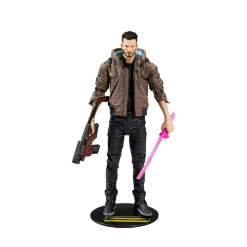 Cyberpunk 2077 Action Figure Male V mozgatható figura 18 cm