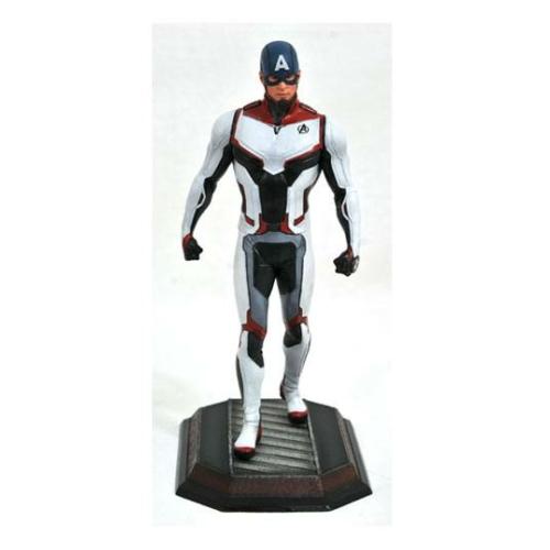 MARVEL Avengers Endgame Movie Gallery Team Suit Amerika Kapitány Exkluzív szobor 23 cm