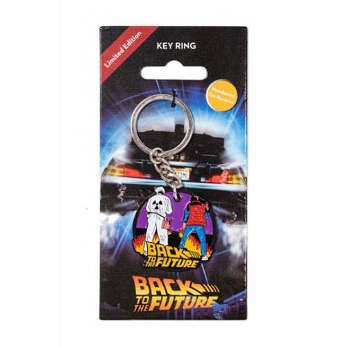 BACK TO THE FUTURE - Vissza a Jövőbe Marty & Doki fém kulcstartó