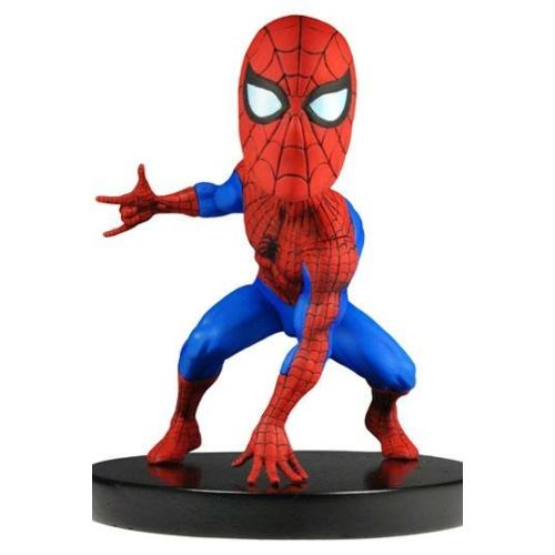 Marvel Classic Extreme Head Knocker Bobble-Head bólogató fejű NECA kézzel festett,élethű Spider-Man Pókember figura 13 cm