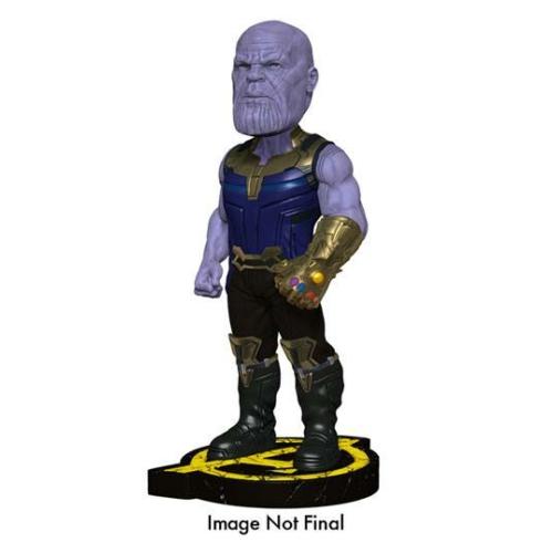Marvel Avengers Infinity War Head Knocker Bobble-Head kézzel festett,élethű bólogató fejű Thanos figura 20 cm