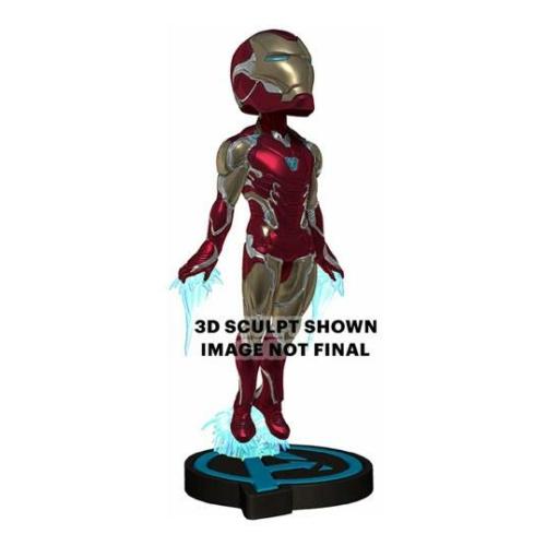 MARVEL Avengers Endgame Head Knocker Bobble Head bólogató fejű Iron Man figura 20 cm