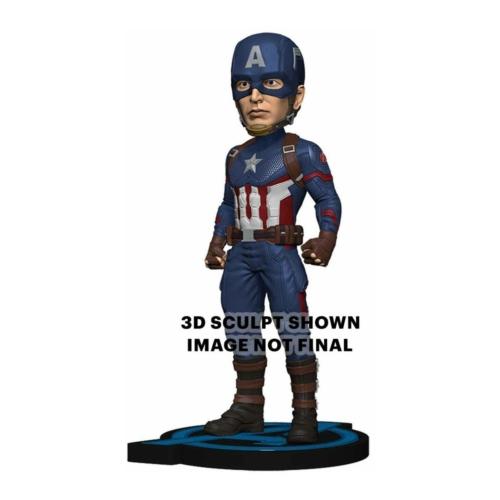 MARVEL Avengers Endgame Head Knocker Bobble Head kézzel festett,élethű bólogató fejű Captain America Amerika Kapitány figura 20 cm