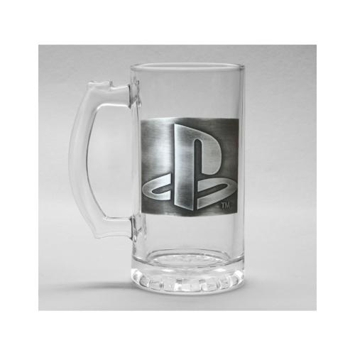 Playstation logo classic fém díszes üveg korsó 500 ml