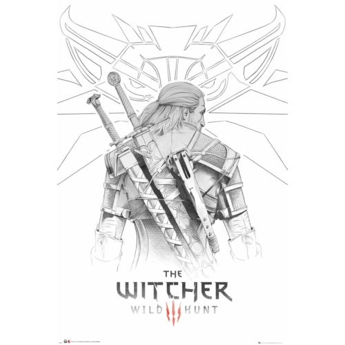 The Witcher Geralt sketch poszter FP4940