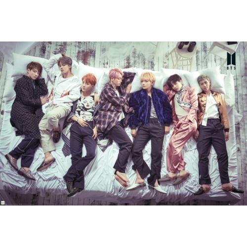 BTS Group bed poszter LP2140