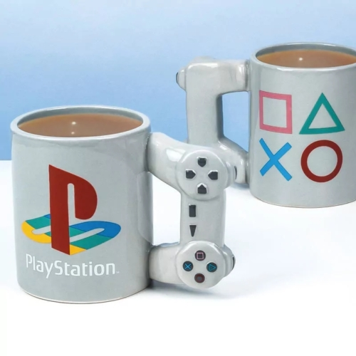 Playstation Controller alakú gamer bögre 320 ml