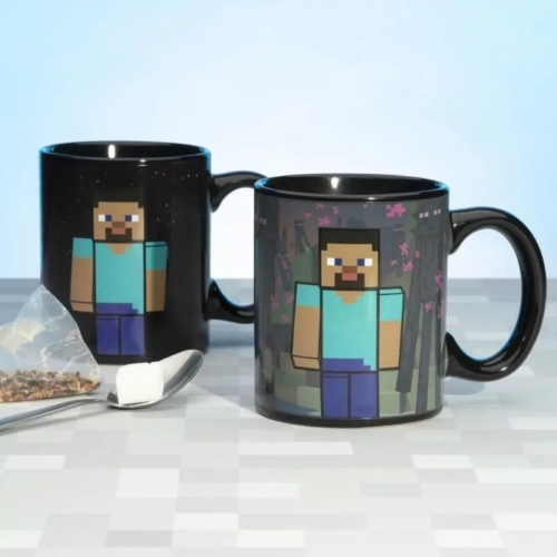 Minecraft Enderman hőre változós bögre
