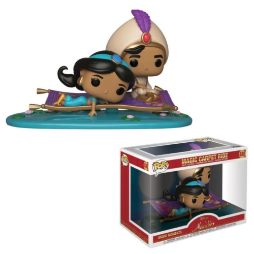 PoP! Aladdin Movie Moments Vinyl Bobble-Head 2-Pack Magic Carpet Ride (480) figura 9 cm