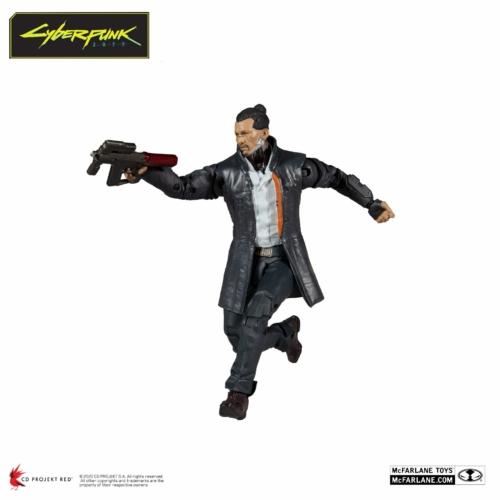 Cyberpunk 2077 Action Figure Takemura mozgatható figura 18 cm